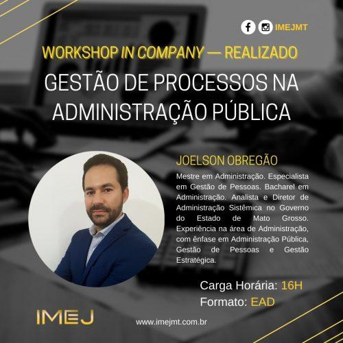 GESTÃO DE PROCESSOS NA ADMINISTRAÇÃO PÚBLICA